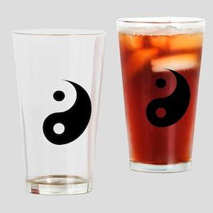 Minimalist Yin Yang Symbol Drinking Glass