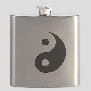 Minimalist Yin Yang Symbol Flask