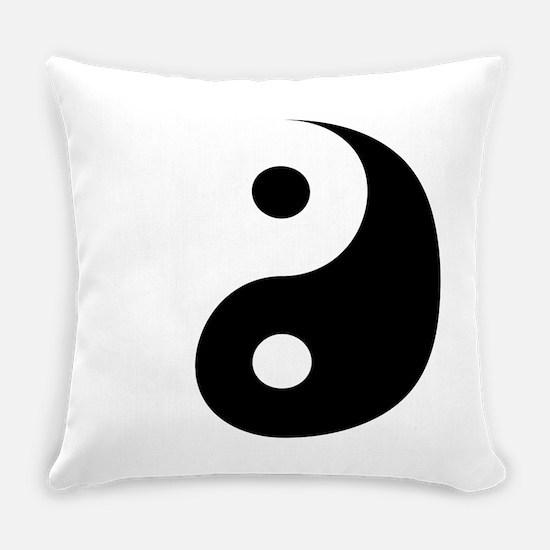 Minimalist Yin Yang Symbol Everyday Pillow