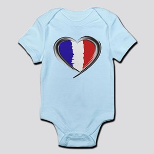 Our Heart for France Watercolor by GetY Body Suit