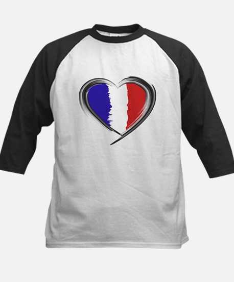 Our Heart for France Watercolor b Baseball Jersey