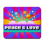 Psychedelic Peace & Love Mousepad