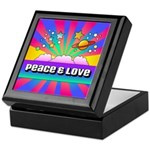 Psychedelic Peace & Love Keepsake Box