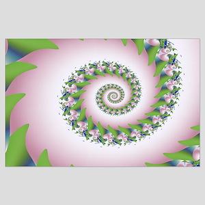 """Pink Pearl"" Fractal Art Large Poster"