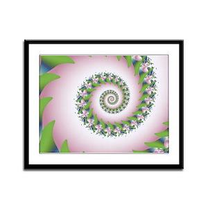 """""""Pink Pearl"""" Fractal Art Framed Panel Print"""