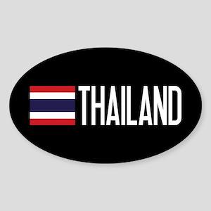 Thailand: Thai Flag & Thailand Sticker (Oval)
