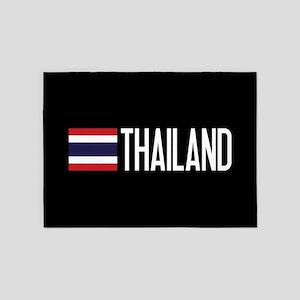 Thailand: Thai Flag & Thailand 5'x7'Area Rug