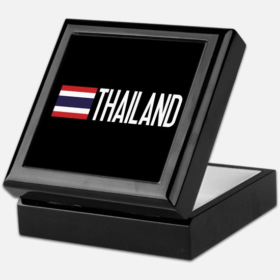 Thailand: Thai Flag & Thailand Keepsake Box