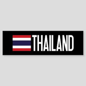 Thailand: Thai Flag & Thailand Sticker (Bumper)