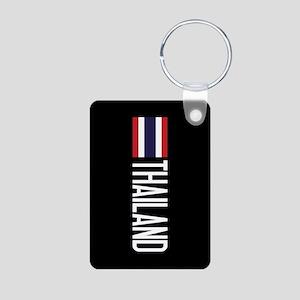 Thailand: Thai Flag & Thai Aluminum Photo Keychain