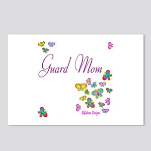 Guard Mom Butterflies Postcards (Package of 8)