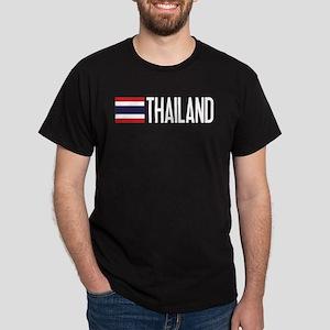 Thailand: Thai Flag & Thailand Dark T-Shirt