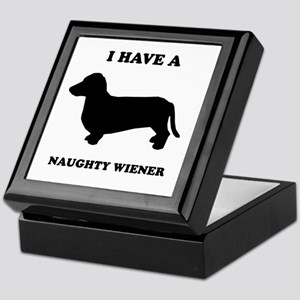 I have a naughty weiner Keepsake Box