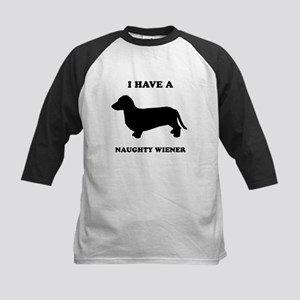 I have a naughty weiner Kids Baseball Jersey