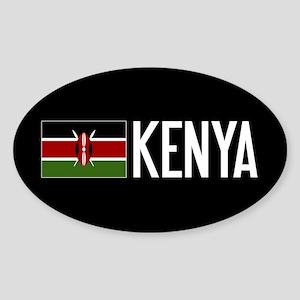 Kenya: Kenyan Flag & Kenya Sticker (Oval)