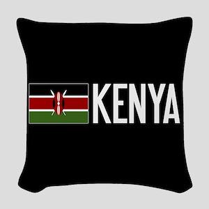 Kenya: Kenyan Flag & Kenya Woven Throw Pillow