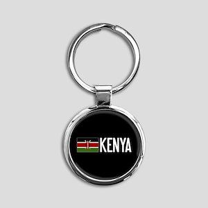 Kenya: Kenyan Flag & Kenya Round Keychain