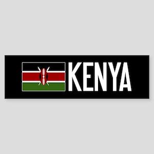 Kenya: Kenyan Flag & Kenya Sticker (Bumper)