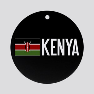 Kenya: Kenyan Flag & Kenya Round Ornament