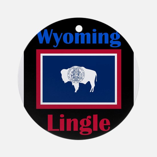 Lingle Wyoming Round Ornament