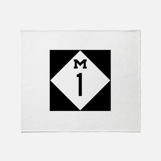 Michigan M1 Woodward Ave Throw Blanket