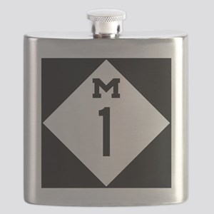 Michigan M1 Woodward Ave Flask