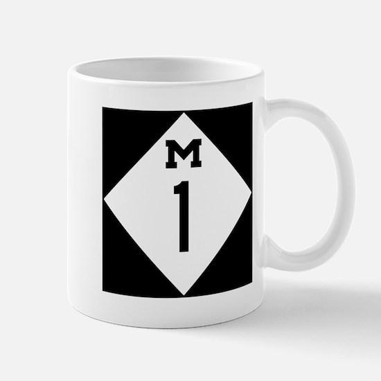 Michigan M1 Woodward Ave Mugs