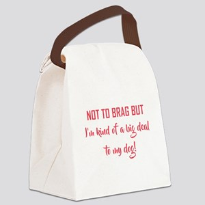 NOT TO BRAG BUT... Canvas Lunch Bag