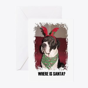 WHERES SANTA? GREAT DANE Greeting Cards (Package G