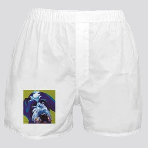Blue and Lime Wire Haired Griffon Boxer Shorts