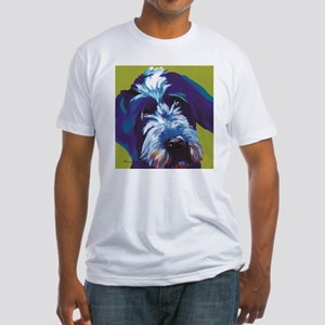Blue and Lime Wire Haired Griffon T-Shirt
