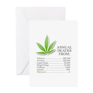 Marijuana Greeting Cards Cafepress