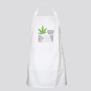 Annual deaths from Marijuana BBQ Apron