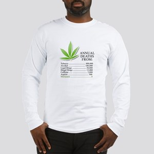 Annual deaths from Marijuana Long Sleeve T-Shirt