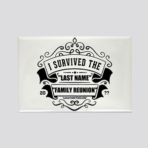 Survived Reunion Rectangle Magnet