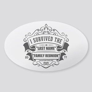 Survived Reunion Sticker (Oval)