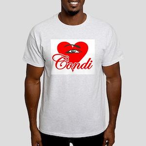 EYE HEART CONDI Ash Grey T-Shirt