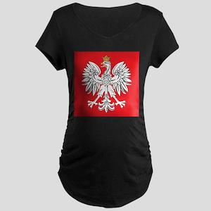 square polish eagle Maternity Dark T-Shirt