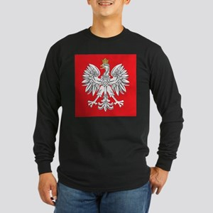 square polish eagle Long Sleeve Dark T-Shirt