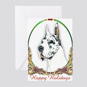 Harlequin Dane Holiday Greeting Cards (Package of
