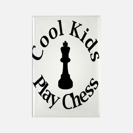 Unique Chess kid Rectangle Magnet