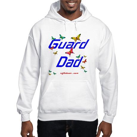 Guard Dad Butterflies Hooded Sweatshirt