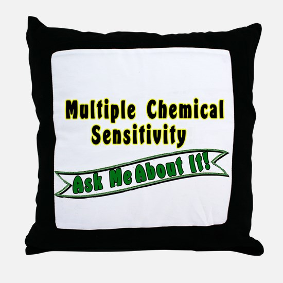 MCS: Ask Me About It! Throw Pillow
