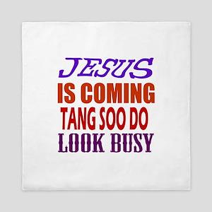 Jesus Is Coming Tang Soo do Martial Ar Queen Duvet