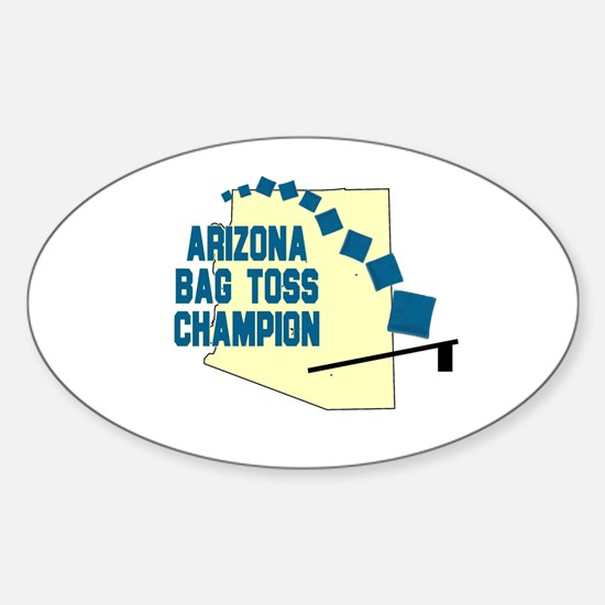 Arizona Bag Toss Champion Oval Decal