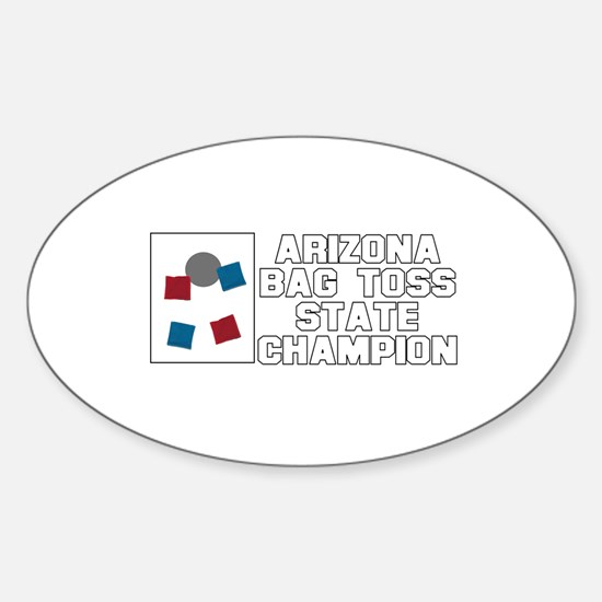 Arizona Bag Toss State Champi Oval Decal