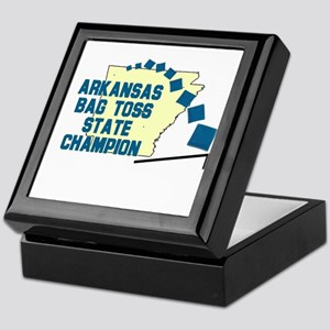 Arkansas Gab Toss State Champ Keepsake Box