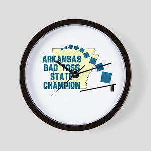 Arkansas Gab Toss State Champ Wall Clock
