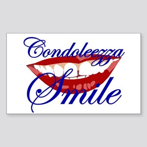 CONDOLEEZZA SMILE Rectangle Sticker