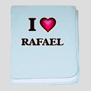 I love Rafael baby blanket